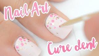 Nail art facile et inratable au cure dent ♡ (idéal pour les ongles courts)