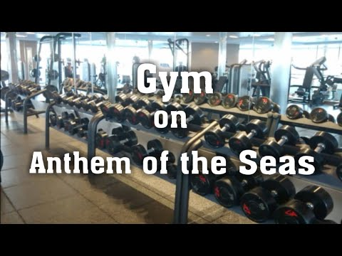 Anthem of the Seas Gym- Royal Caribbean fitness center