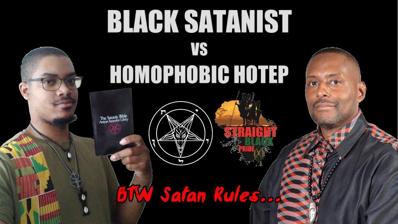 Black Satanist VS Homophobic Hotep