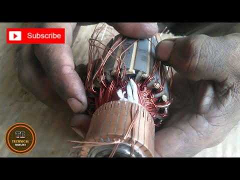 new method of 7 inch angle grinder armature winding its called single winding  part 1