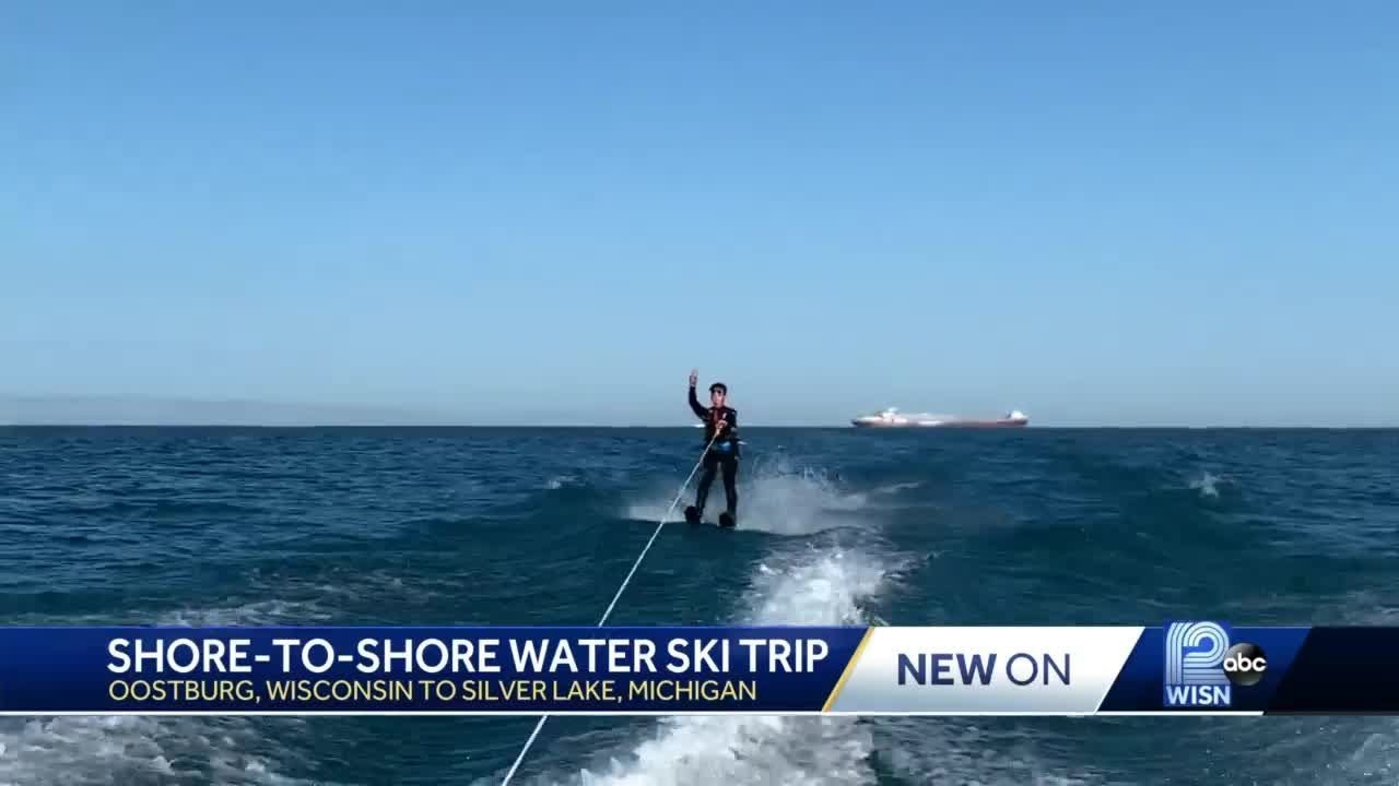 Teens water ski across Lake Michigan | SuperNewsWorld com