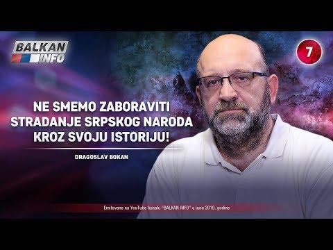 INTERVJU: Dragoslav Bokan - Ne smemo zaboraviti stradanje srpskog naroda kroz istoriju! (19.6.2019)