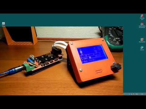 Как залить прошивку Marlin-RC8 в Arduino ATMega 2560 с Ramps-1.4, LCD 12864 с энкодером.