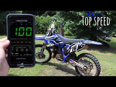 Here's How Fast A Yz250 Can Go ( OFFICIAL Top Speed )