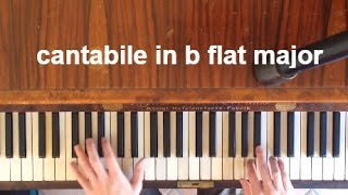 cantabile in b flat major - CHOPIN | piano trill
