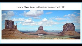 How to Make Dynamic Bootstrap Carousel with PHP