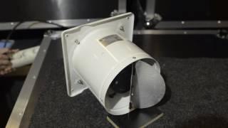 Обратный клапан. Вытяжной вентилятор PRO-150(Демонстрация работы обратного клапана на мощном, металлическом вытяжном вентиляторе PRO-150 Мощность: 40 Вт..., 2016-10-28T05:14:29.000Z)