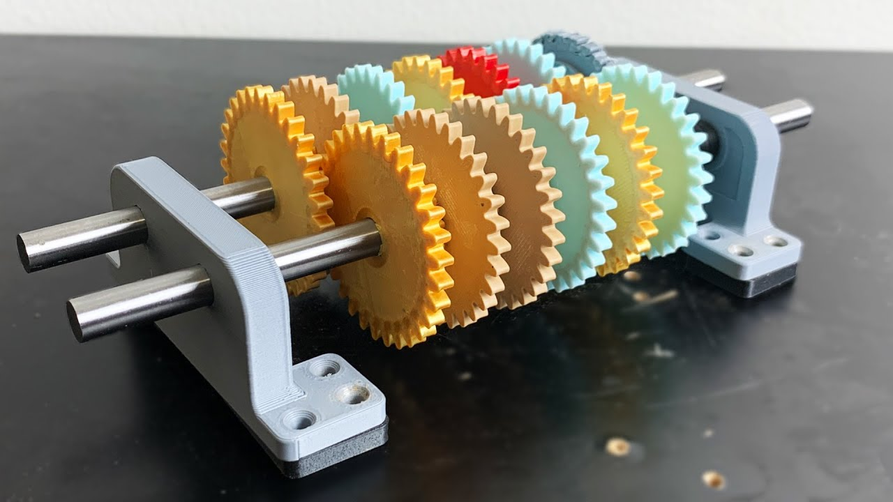 3d Printed GEARBOX speed record - (500,000:1 gear ratio)