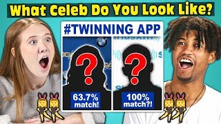 Teens Try To Find Their Celebrity Twin TWINNING APP video