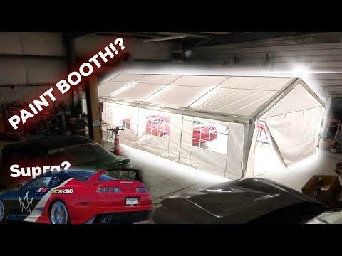 PT.1 DIY WEDDING TENT PAINT BOOTH Setup! MK4 Supra Paint suggestions