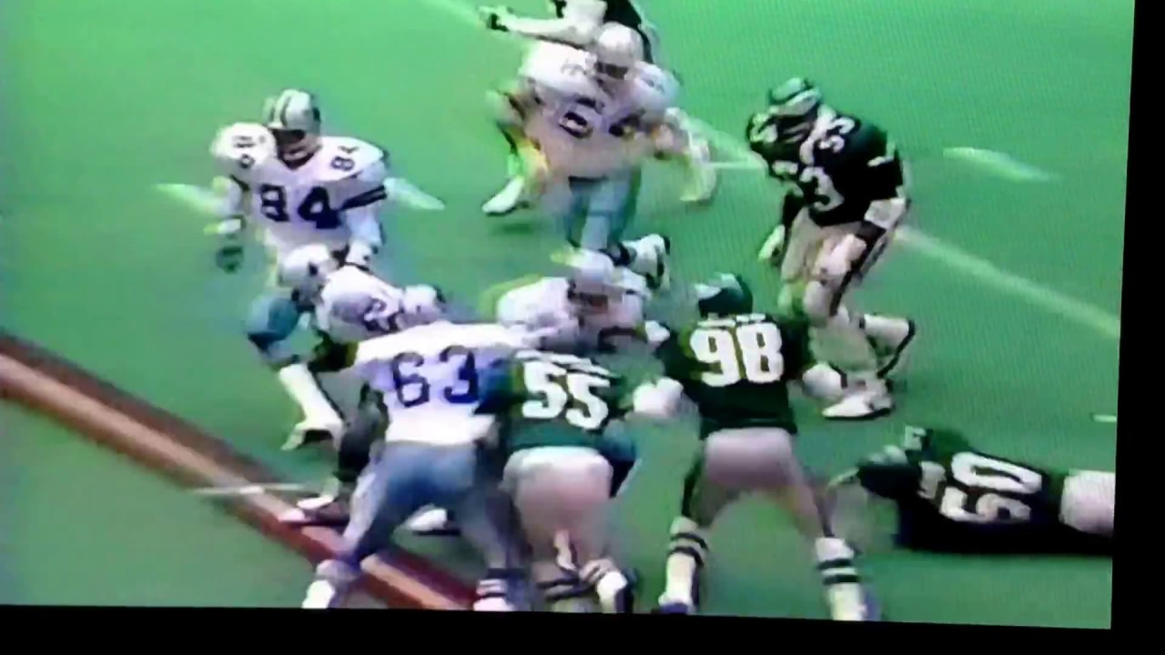 Herschel Walker 84yd Td Run Vs Eagles 1986 Youtube