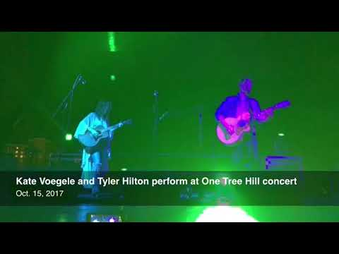 Kate Voegele And Tyler Hilton Perform At One Tree Hill Concert Sunday