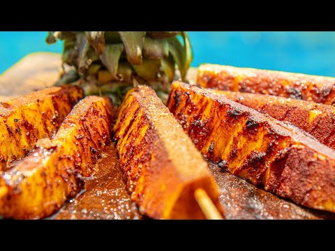 Grilled Pineapple Brazilian Steakhouse Dessert right off your Grill