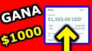 🔥Como GANAR 1000 DOLARES En Internet Sin Invertir (Dinero Con El Celular Con Ideas De Verdad)