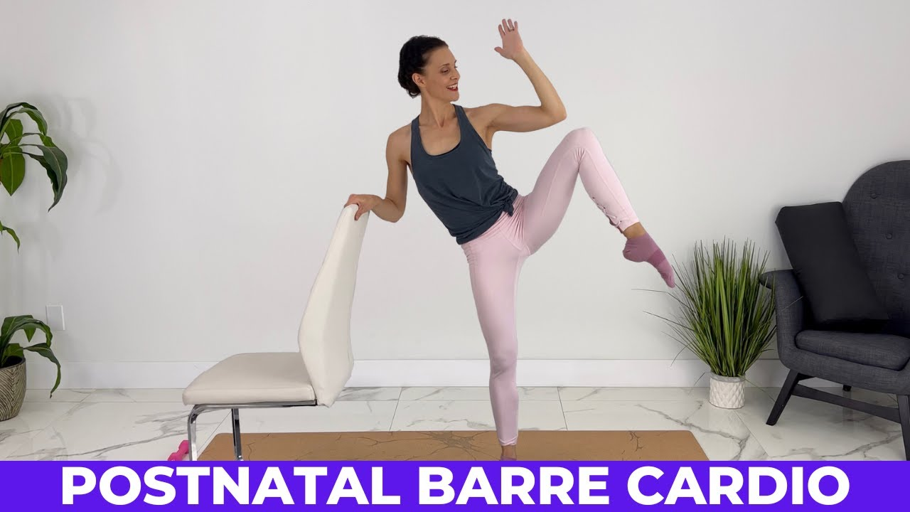 Barre Cardio Workout + TONING | Post Pregnancy Workout To Burn Calories 🔥