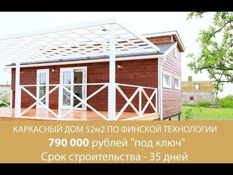 Дом по финской технологии 52 квадратных метра 790 000 рублей