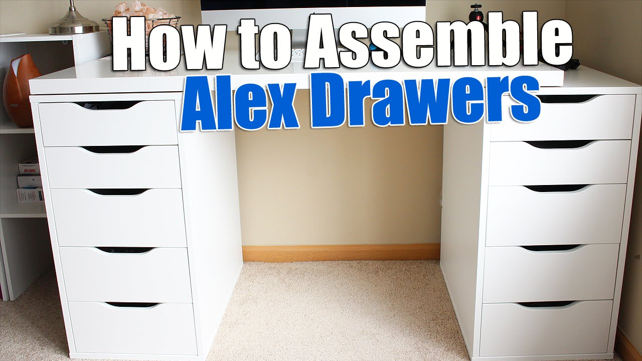 How to build ikea alex drawers build ikea furniture for Cardboard drawers ikea
