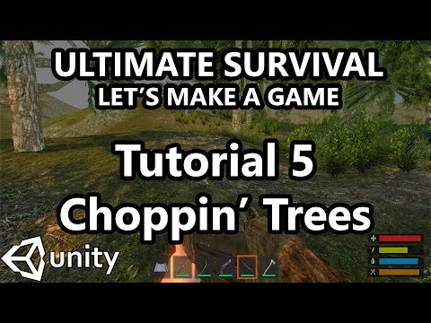 5.-unity-tutorial---how-to-make-a-survival-game---chopping-down-trees!