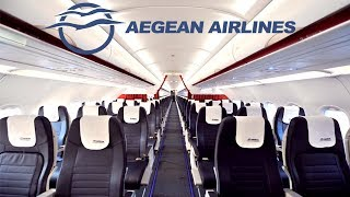 Aegean Airlines ECONOMY CLASS Tel Aviv to Athens|Airbus A321