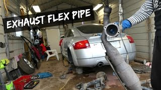AUDI FLEX PIPE AND CATALYTIC CONVERTER REMOVAL REPLACEMENT 1 8 TURBO AUDI TT