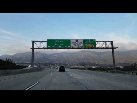 Driving Los Angeles to Las Vegas  Time Lapse