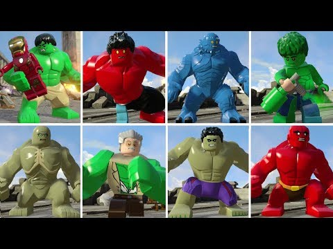 All Hulk Characters In LEGO Marvel's Avengers + Transformations