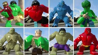 All Hulk Characters in LEGO Marvel