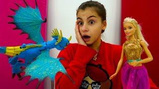 Видео для девочек с Барби - Как приручить дракона