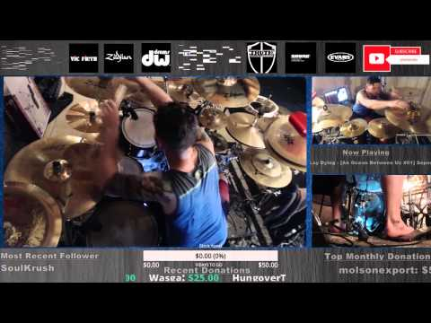 As I Lay Dying - Shadows Are Security + Ocean Between Us FULL DRUMS LIVE on www.twitch.tv/danwind86