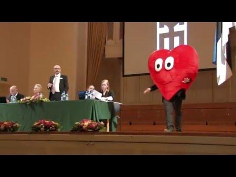 Jaak Visnap sööstab punase südamena Eesti Kunstnike Liidu suurkogusse - Minister Indrek Saare kõne