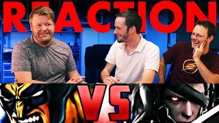 Wolverine VS Raiden DeathBattle REACTION!! SLAP BET!!