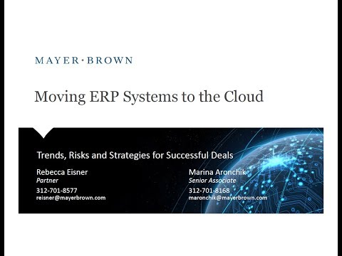 Contracting for Cloud ERP Systems Trends, Risks and Strategi