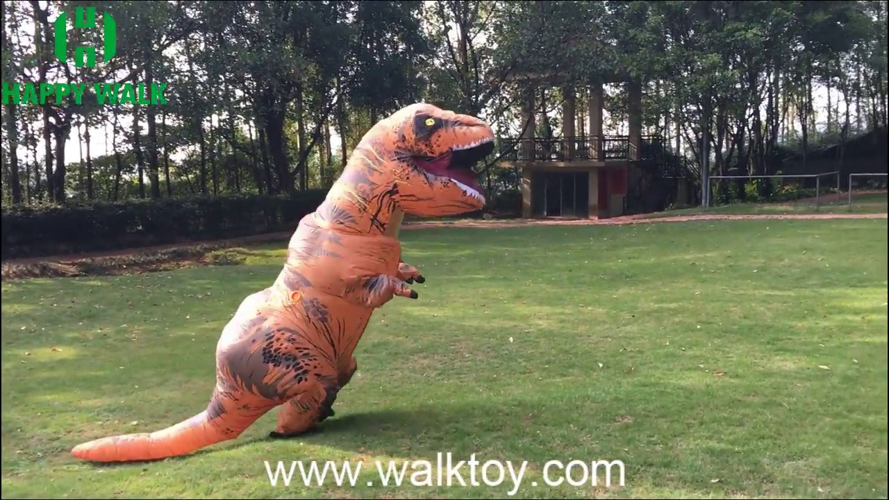 inflatable dinosaur costume youtube