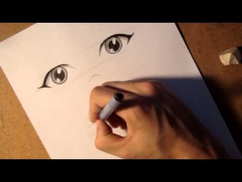 видео: Как рисовать аниме глаза под разными ракурсами