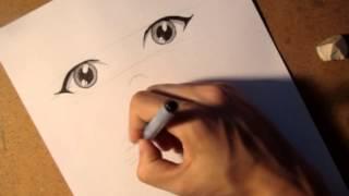 Как рисовать аниме глаза под разными ракурсами(Лучшая Группа: http://vk.com/club61619523 Юра объясняет основные правила рисования анимешных глаз в разных ракурсах., 2013-06-21T19:37:03.000Z)