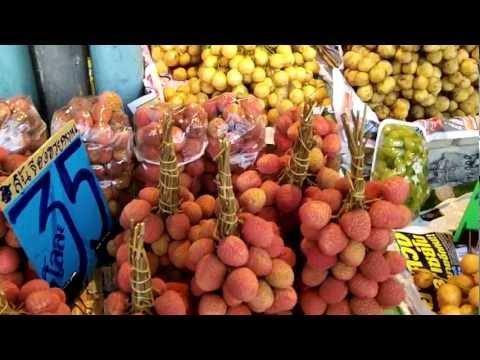 Thai Street fruit Vendors Bangkok