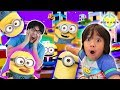 RYAN & DADDY ESCAPE MINION TAKEOVER ! Let's Play ROBLOX Escape from Minion Obby 2