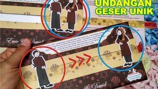 Undangan Geser Unik Pernikahan 0852-2602-1075 Murah