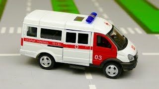Мультик про машинки - 228 серия:  Новые машинки, Скорая помощь, гоночная машина, эвакуатор