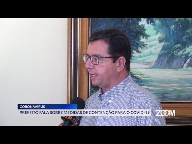 19-03-2020 - PREFEITO FALA SOBRE MEDIDAS DE CONTENÇÃO PARA O COVID-19 - ZOOM TV JORNAL