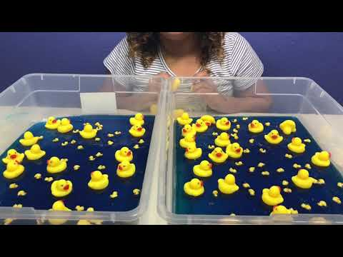 1 GALLON OF CLEAR DUCK SLIME VS 1 GALLON OF CLEAR DUCK SLIME - MAKING CRUNCHY CLEAR SLIME