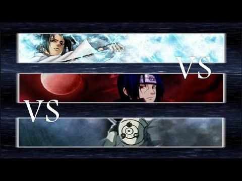 Sasuke (Susanoo) vs Itachi vs Tobi (Obito Uchiha) - Bleach vs Naruto 2.2