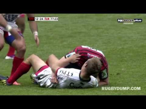 Jonny Wilkinson drop goal beat Owen Farrell charge down
