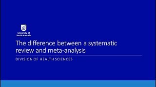The Difference Between a Systematic Review and Meta-analysis