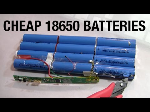 Cheap 18650 Lithium Ion Batteries to Create the Ultimate 192