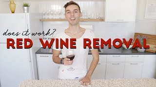 RED WINE STAIN REMOVAL HACKS | Does it Work?