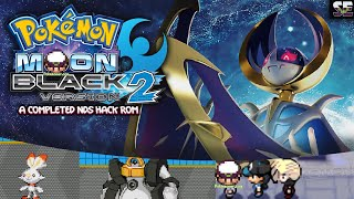 Pokemon Moon Black 2 Completed - Completed NDS Hack Rom with Galar Starters, Alola Pokemon, more..