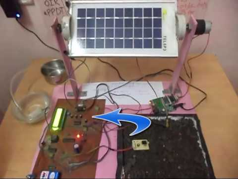 SOLAR POWERED IRRIGATION USING GSM WITH SMS ALERT & SOLAR TRACKER