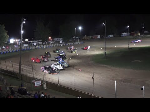 A Feature 1 (20 Laps): 4-Taylor Wiles,26P-Nathan Patrick, 1E-Jeffery Erickson Jr, 16-Chad May, 12-Jeff Reay, 97-Nick Stormzand, 93-Brady Hollenbeck, ... - dirt track racing video image