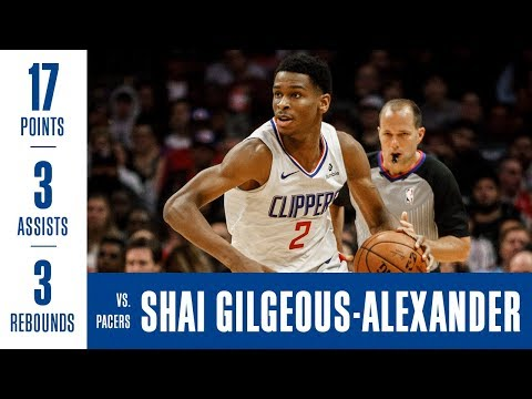 Shai Gilgeous-Alexander Highlights vs. Pacers | 17 Points, Rebounds, 3 Assists, 0 Turnovers